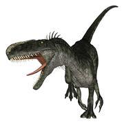 Dinosaur Monolophosaurus - stock photo