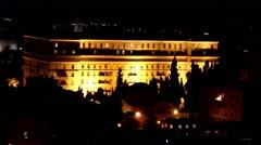 King David hotel at the night. Jerusalem. Israel Stock Footage