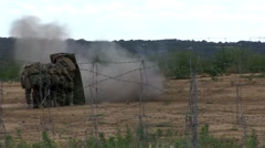 French Foreign Legion Train with a Blast Shield in France Stock Footage