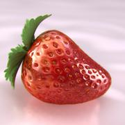 3d model of Strawberry on Cream