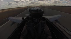 Cockpit footage of a fighter pilot Arkistovideo