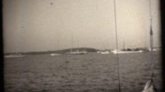 Happy Sailboat crew Stock Footage