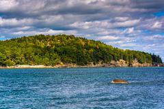 island in frenchman bay, in bar harbor, maine. - stock photo