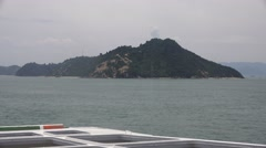 Japanese Island View From Ferry Boat Naoshima Japan 4K Stock Footage