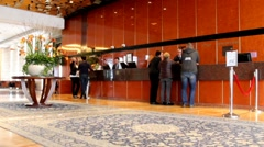 Modern lobby for five stars hotel Stock Footage