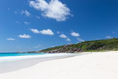 best beach anse lazio - stock photo