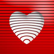 valentine's day gift card - stock illustration