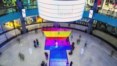 4K TimeLapse - Dubai Mall LCD LED floor Stock Footage