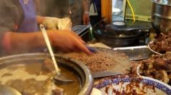 Making of Chinese hamburger Stock Footage