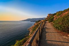 Path to porto azzuro Stock Photos