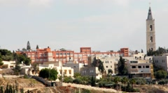 Panorama Mount  Scopus and Mount of Olives. Jerusalem. Israel Stock Footage
