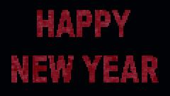 Special Days Glowing Text -Happy New Year - stock footage