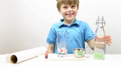 Elementary Science Experiement Stock Footage