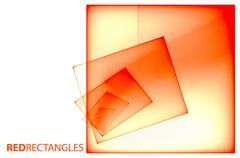 Red transparent squares Stock Illustration