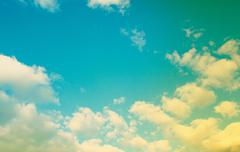 Beautiful sparse clouds in the blue sky Stock Photos