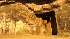 Spring in King Solomon's Quarries under Old city. Jerusalem Stock Footage