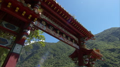 Paifang at Taroko Gorge, Taiwan Stock Footage