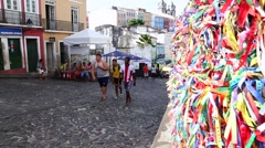 View for Historic Centre (also known as Pelourinho) in Salvador, Bahia, Brazil Stock Footage