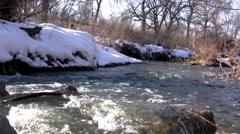 Snowmelt Stream Flowing Stock Footage