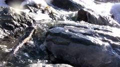 (Perfect Loop) Winter Creek Amazing View Stock Footage