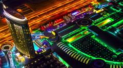 4K TimeLapse - night view Dubai mall Stock Footage