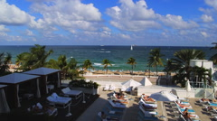Stock Video Footage of Fort Lauderdale, Florida, Broward County, Fort Lauderdale Beach along A1A