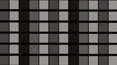 Black White Blinking Squares Background Stock Footage