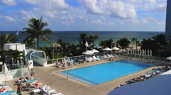Stock Video Footage of Westin Hotel Pool, Ft. Lauderdale, Florida, , Fort Lauderdale Beach along A1A