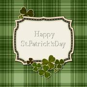 Patrick's Days retro card - stock illustration