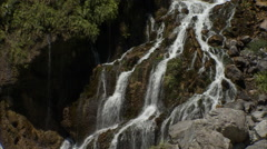 Pure fresh water waterfall in the Eternal Spring Shrine. Stock Footage