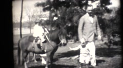 Family estate in the depression , pony rides Stock Footage