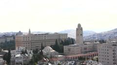 Hotel King David and Jerusalem International YMCA, Israel Stock Footage
