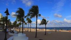 Broward Ft. Lauderdale Beach - stock footage