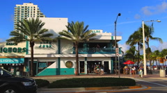 Stock Video Footage of Elbo Room Bar, Fort Lauderdale, Florida,  Fort Lauderdale Beach along A1A