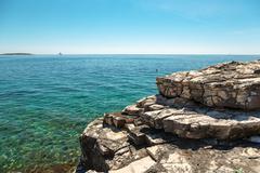 Adriatic Sea coastline in Croatia Stock Photos
