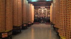 Light lanterns in Dajia Jenn Lann Temple Stock Footage