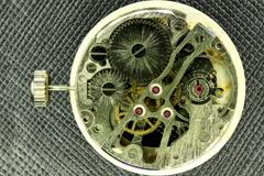4K. Complex movement of a modern wind-up watch, Ultra HD, 4096x2730 Stock Footage