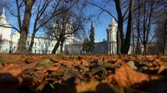 The Smolny Cathedral in St. Petersburg. 4K. Stock Footage