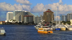 Broward County, Fort Lauderdale, Florida Intracoastal Waterway - stock footage