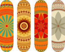 Skateboard designs - stock illustration