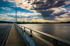 Bridge over the back river in essex, maryland. Kuvituskuvat