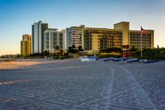 hotels and condo towers on the beach in singer island, florida. - stock photo