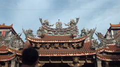 Stock Video Footage of Dajia Jenlan Temple outside. Mazu belief