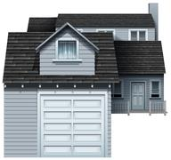 A big grey residential property Stock Illustration