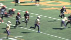 Pee Wee Youth League Mighty Mites Football-Run Touchdown Stock Footage