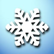 Cut out christmas snowflake - stock illustration