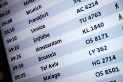 arrival departure board in international airport - stock photo