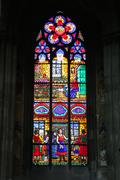 stained glass art in wien - stock photo