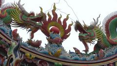 Giant pailou of the Donglong Temple Stock Footage