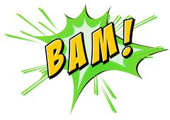 Bam flash on white - stock illustration